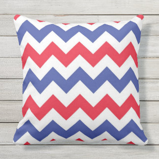red white and blue Chevron pattern Cushion