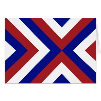Red, White, and Blue Chevrons Card