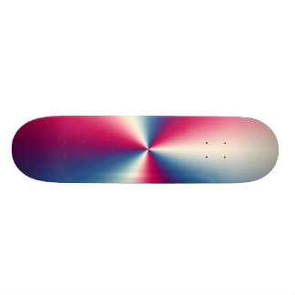 RED,WHITE AND BLUE CHROME SKATE BOARD