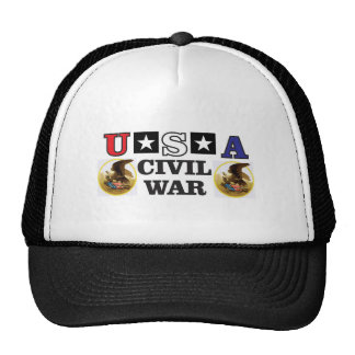 red white and blue civil war cap