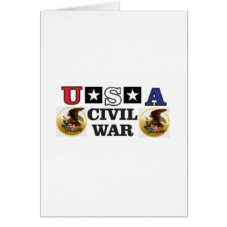 red white and blue civil war card