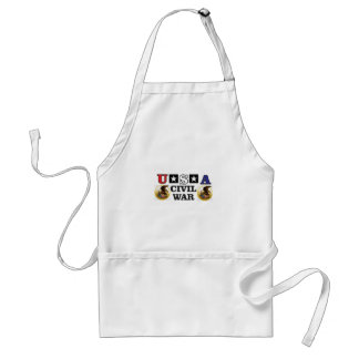 red white and blue civil war standard apron