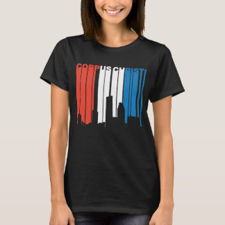 Red White And Blue Corpus Christi Texas Skyline T-Shirt
