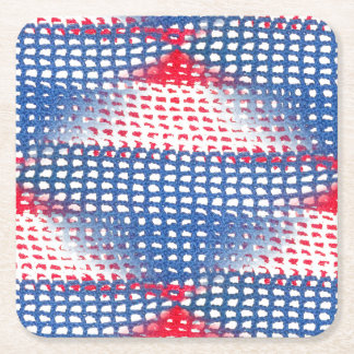 Red White and Blue Crocheted Look Drink Coasters