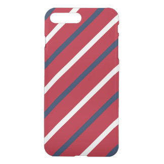 Red, White and Blue Diagonal Stripe iPhone 7 Plus Case