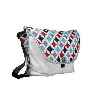 Red White And Blue Diamonds Messenger Bag