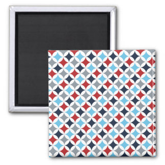 Red White And Blue Diamonds Square Magnet