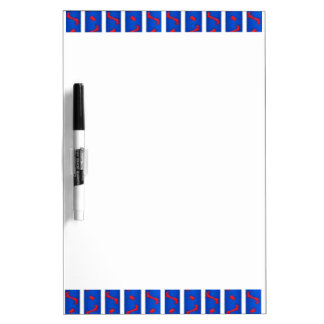 Red White and Blue Dry Erase Whiteboard