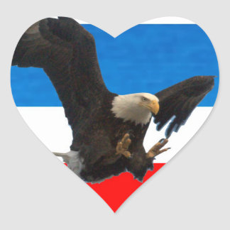 RED WHITE AND BLUE EAGLE STICKERS