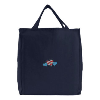 Red, White and Blue Canvas Bags