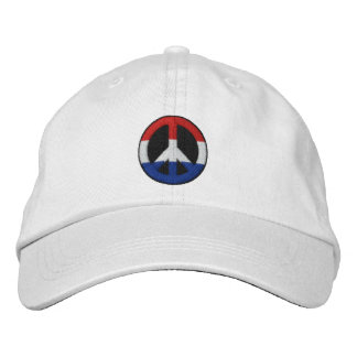Red White and Blue Embroidered Hat