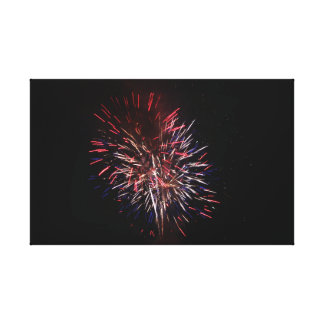 Red, White, and Blue Firework Canvas Print