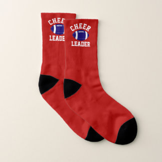 Red, White and Blue Football Cheerleader Socks 1