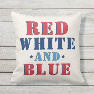 Red White and Blue | Fourth of July Outdoor Cushion