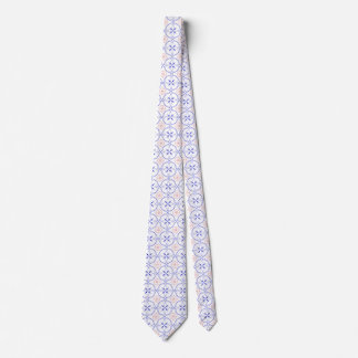 Red White And Blue Geometric Tie