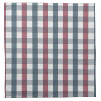 Red White and Blue Gingham Plaid Napkin