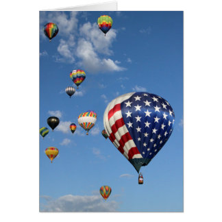 Red, White and Blue Hot Air Balloon Card
