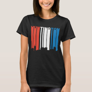 Red White And Blue Huntington West Virginia Skylin T-Shirt