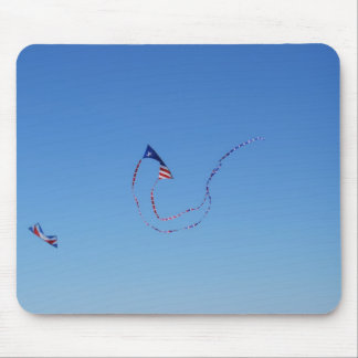 Red, White, and Blue Kite Mouse Pads