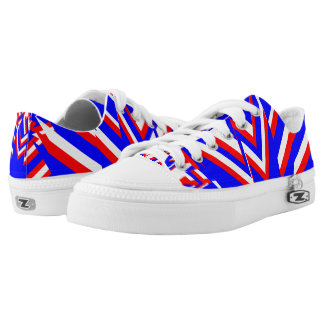 RED WHITE AND BLUE LOW TOPS