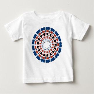 RED WHITE AND BLUE MANDALA BABY T-Shirt