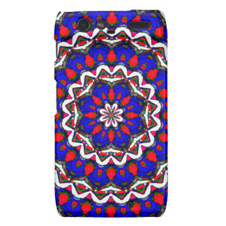 Red White And Blue Mandala Droid RAZR Covers