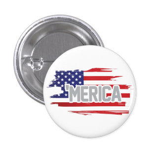 """Red white and blue """"Merica button"""