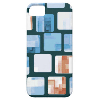 Red White and Blue Mosaic Pattern iPhone 5 Covers