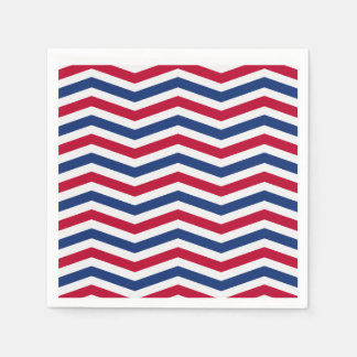 Red White and Blue Napkins Disposable Serviette