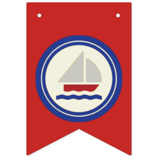 Red, White and Blue Nautical Banner Bunting