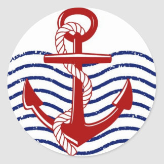 Red, white and blue nautical sticker
