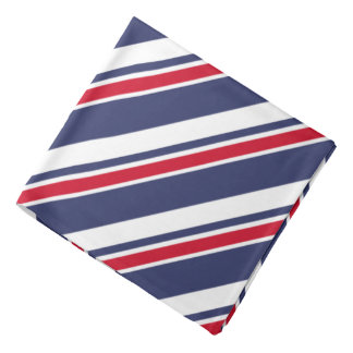 Red White and Blue Nautical Stripes Bandana