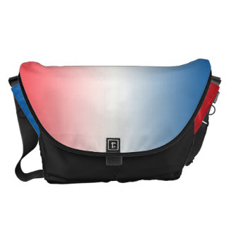 Red White And Blue Ombre Large Commuter Bags