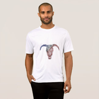 Red, White and Blue Ox Skull T-Shirt