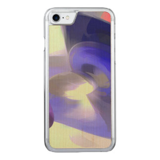 Red, White and Blue Pastel Abstract Carved iPhone 8/7 Case