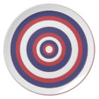 Red White and Blue Patriotic Plate