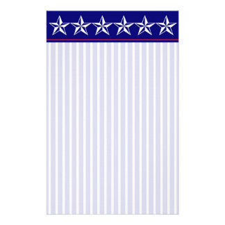 Red, White and Blue Patriotic Stationery