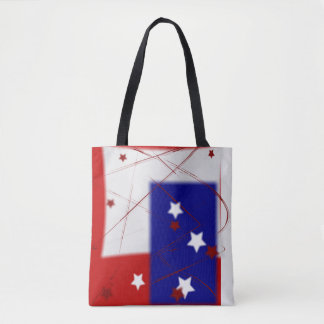 Red White and Blue Patriotic Tote Bag