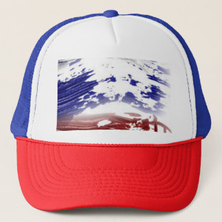 Red White and Blue Patriotic Trucker Hat