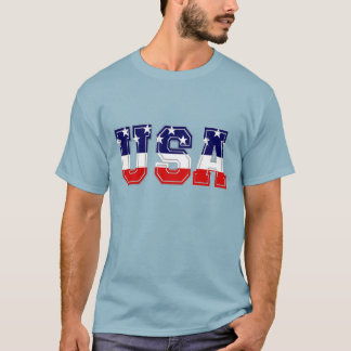 Red White and Blue Patriotic USA Stars and Stripes T-Shirt