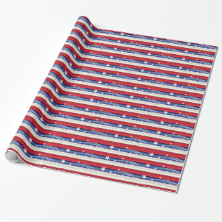 Red, White and Blue Patriotic Wrapping Paper