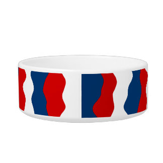 Red, White and Blue Pattern Bowl