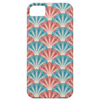 red white and blue peacock pattern iPhone 5 case