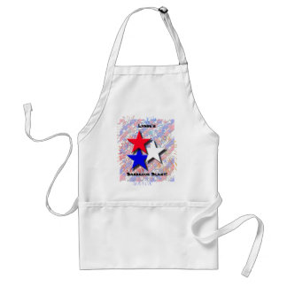 Red, White and Blue Personalized Barbecue Apron