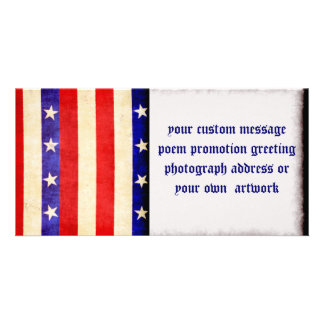 Red, White and Blue Picture Card