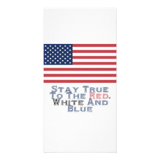 Red, White and Blue Photo Greeting Card