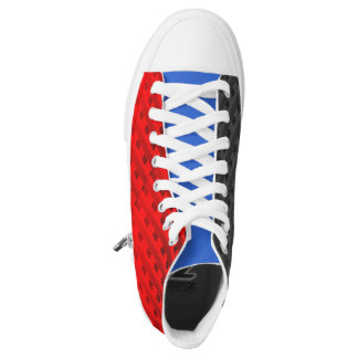 Red, White, and Blue Plaid New Trend High Tops