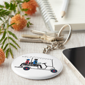 red, White and Blue PTC GA Family Golf Cart Key Ring