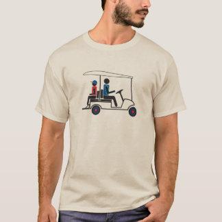 red, White and Blue PTC GA Family Golf Cart T-Shirt