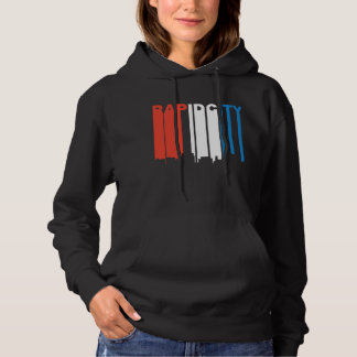 Red White And Blue Rapid City South Dakota Skyline Hoodie